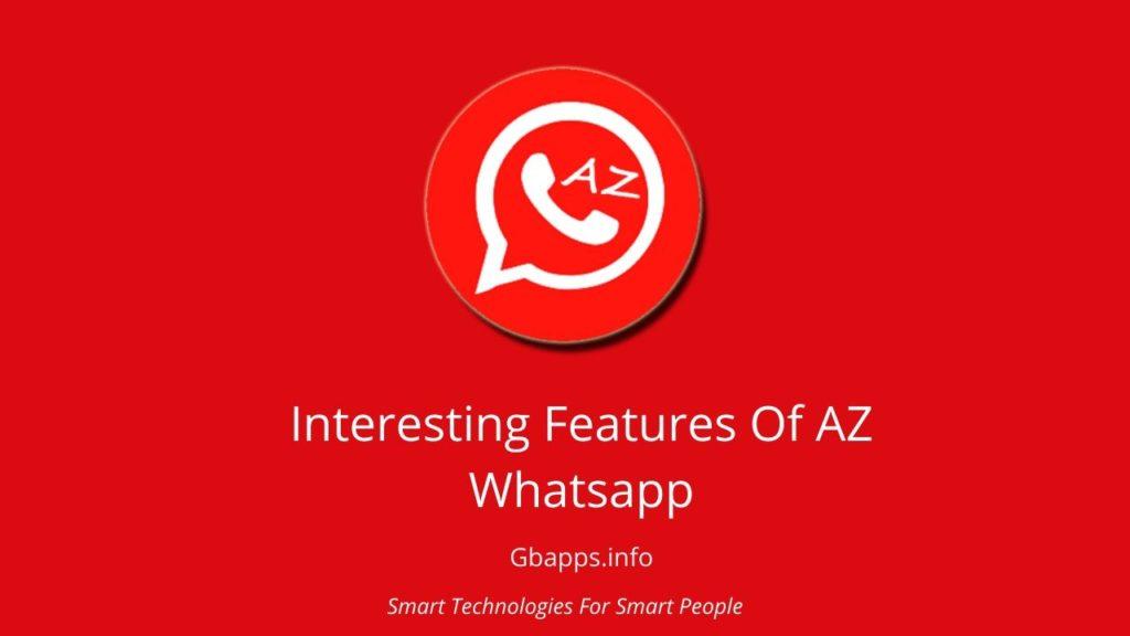features of az whatsapp