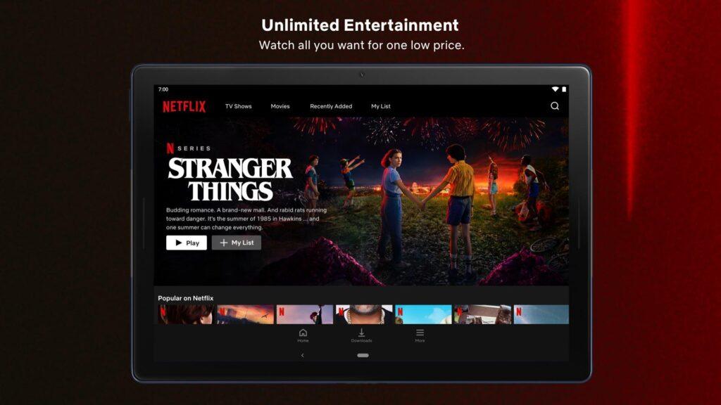 Netflix Uygulamasının Özellikleri