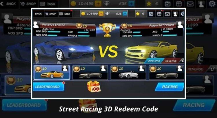 Street Racing 3D Redeem Code