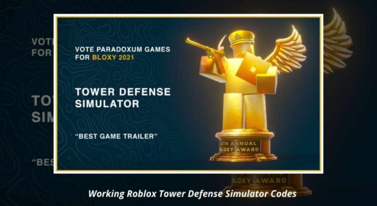 Roblox Tower Defense Simulator Codes